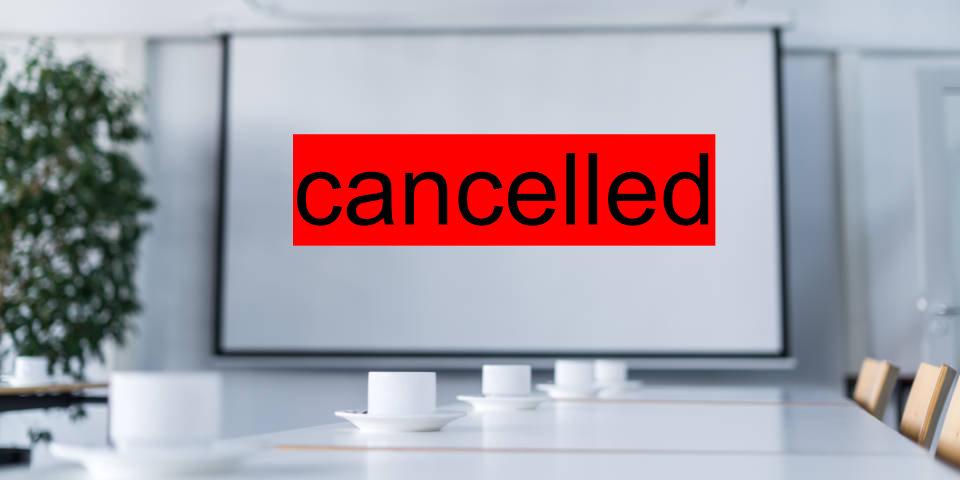 Absage aller öffentlicher Veranstaltungen im EBC